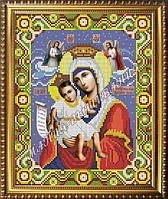 Схема для вышивания бисером Икона Божьей Матери Достойно есть