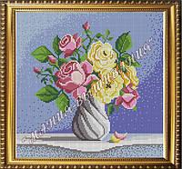 Схема для вышивания бисером Натюрморт с розами (полная зашивка)