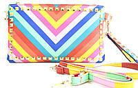 Брендовый женский клатч из разных цветов