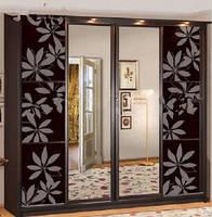 Шкаф-купе 4-х дверный 2,4 м (гл.61 см) ЭЛИТ ЛАК с цельным зеркалом (Скай ТМ)