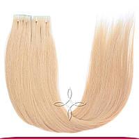 Волосы на лентах с иммитацией роста волос 55-60 см 100 грамм, Блонд №101