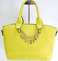 Брендовая женская сумка Moschino Маскино желтая