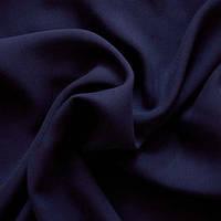 Ткань штапель - цвет темно-синий