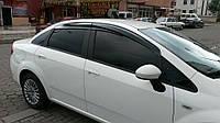 Fiat Linea 2006+ и 2013+ гг. Ветровики (4 шт, Perflex Sport)