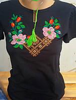 Вышитая футболка женская 323САК, фото 1