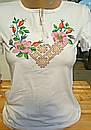 Вышитая футболка женская 323САК, фото 2