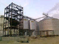 Силосы и силосы-хопперы для хранения зерна монтаж