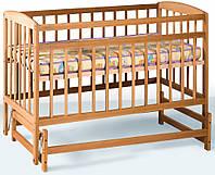 Детская кроватка Гойдалка на шарнирах (натуральный)