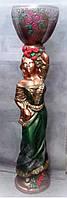 "Скульптура ""Роза с чашей"" цветная бронза"