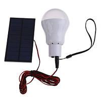 Туристическая LED лампочка 150 лн со встроенным аккумулятором и зарядкой от солнца (модель S-1200)