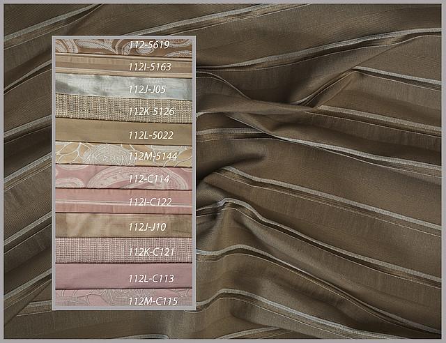 Портьерные ткани с рисунком, партнеры - полоска, однотон