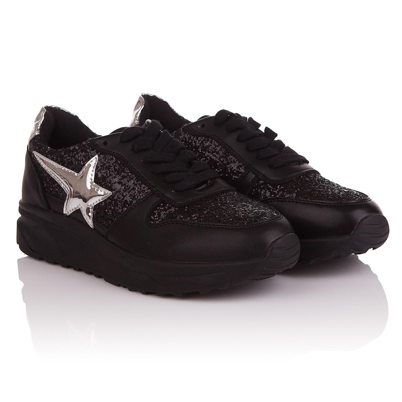833d7d3fe247 Купить Кроссовки женские Feilimao (черного цвета с стильным напылением,  удобные, ...