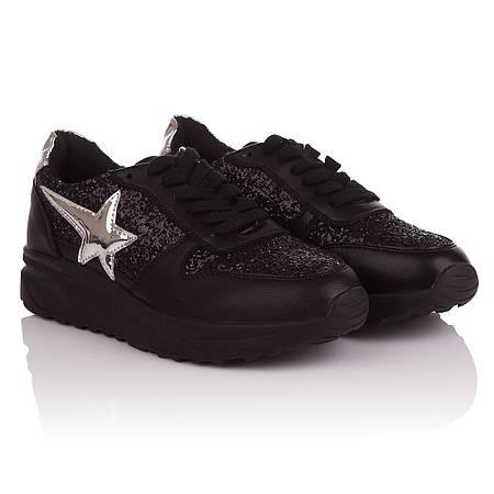 Кроссовки женские Feilimao (черного цвета с стильным напылением, удобные,  модные, практические) 4f2fe392396