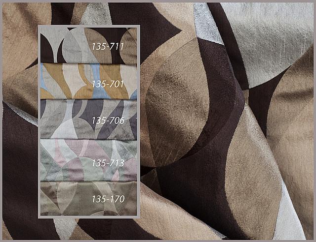 Портьерная ткань с рисунком. Код: 135