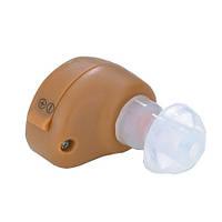 Внутриушной слуховой аппарат с регулировкой уровня усиления, кнопкой включения, 3 насадками (мод. AXON K-86)