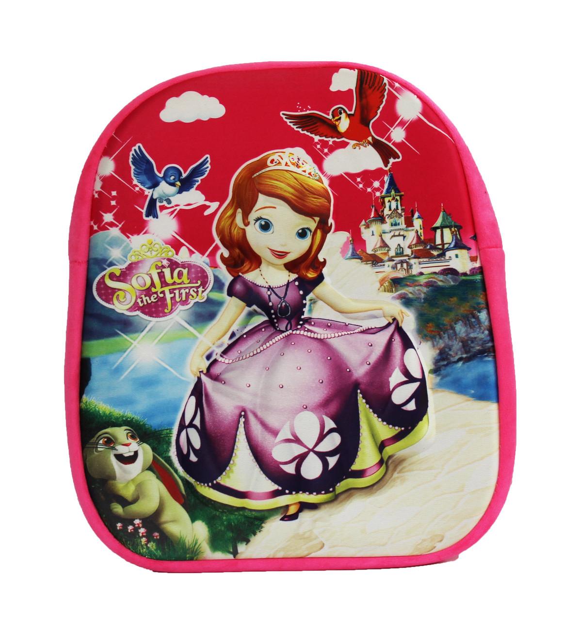 """Оптом Детский рюкзак для девочки """"Принцесса София"""" - розовый - 001"""