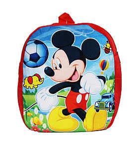 Оптом Детский рюкзак Микки Маус - красный - 002