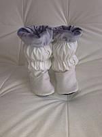 Домашние велюровые тапочки-сапожки высокие