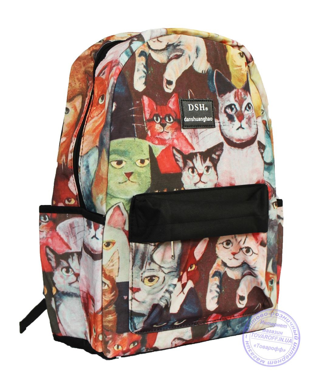 Оптом Рюкзак с котами для девочек - 501-5