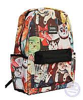 Оптом Рюкзак с котами для девочек - 501-5, фото 1