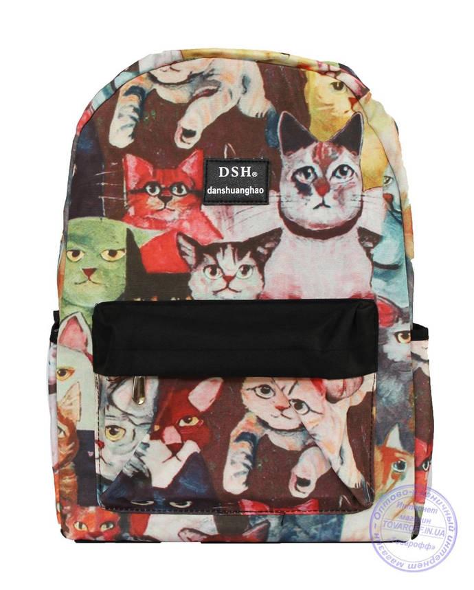 Оптом Рюкзак с котами для девочек - 501-5, фото 2