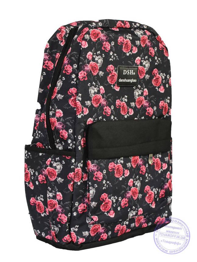 Оптом Рюкзак с розочками для девочек 501-1, фото 2