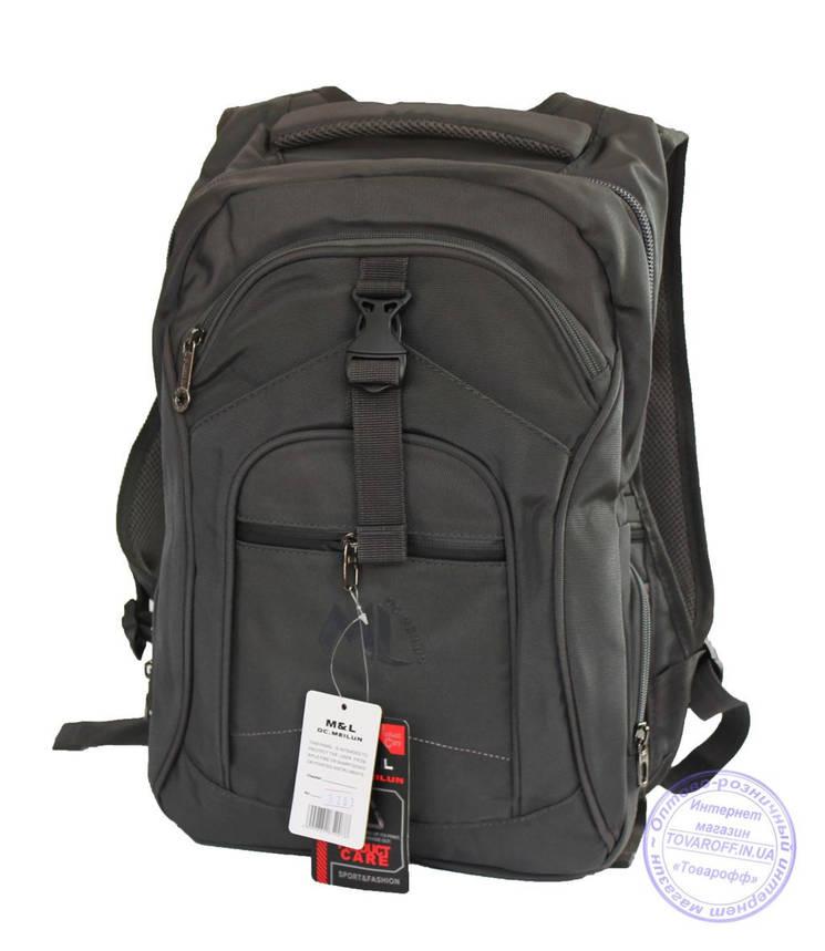 Оптом Качественный рюкзак для мальчика - серый - 3203, фото 2