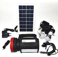 Фонарь светодиодный Yajia YJ- 1902 с солнечной панелью и USB Power Bank