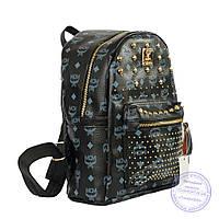 Оптом Рюкзак для девочки из эко-кожи - черный - 6638, фото 1