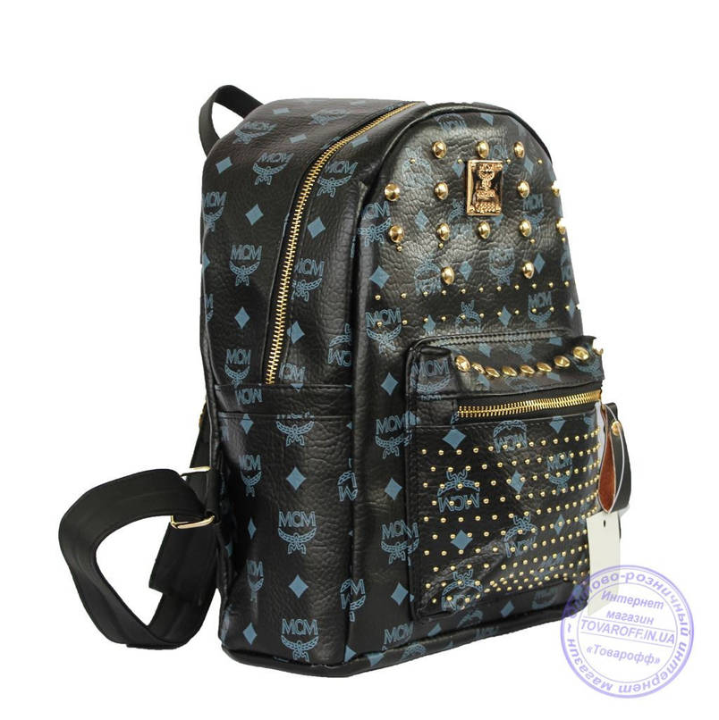 Оптом Рюкзак для девочки из эко-кожи - черный - 6638, фото 2