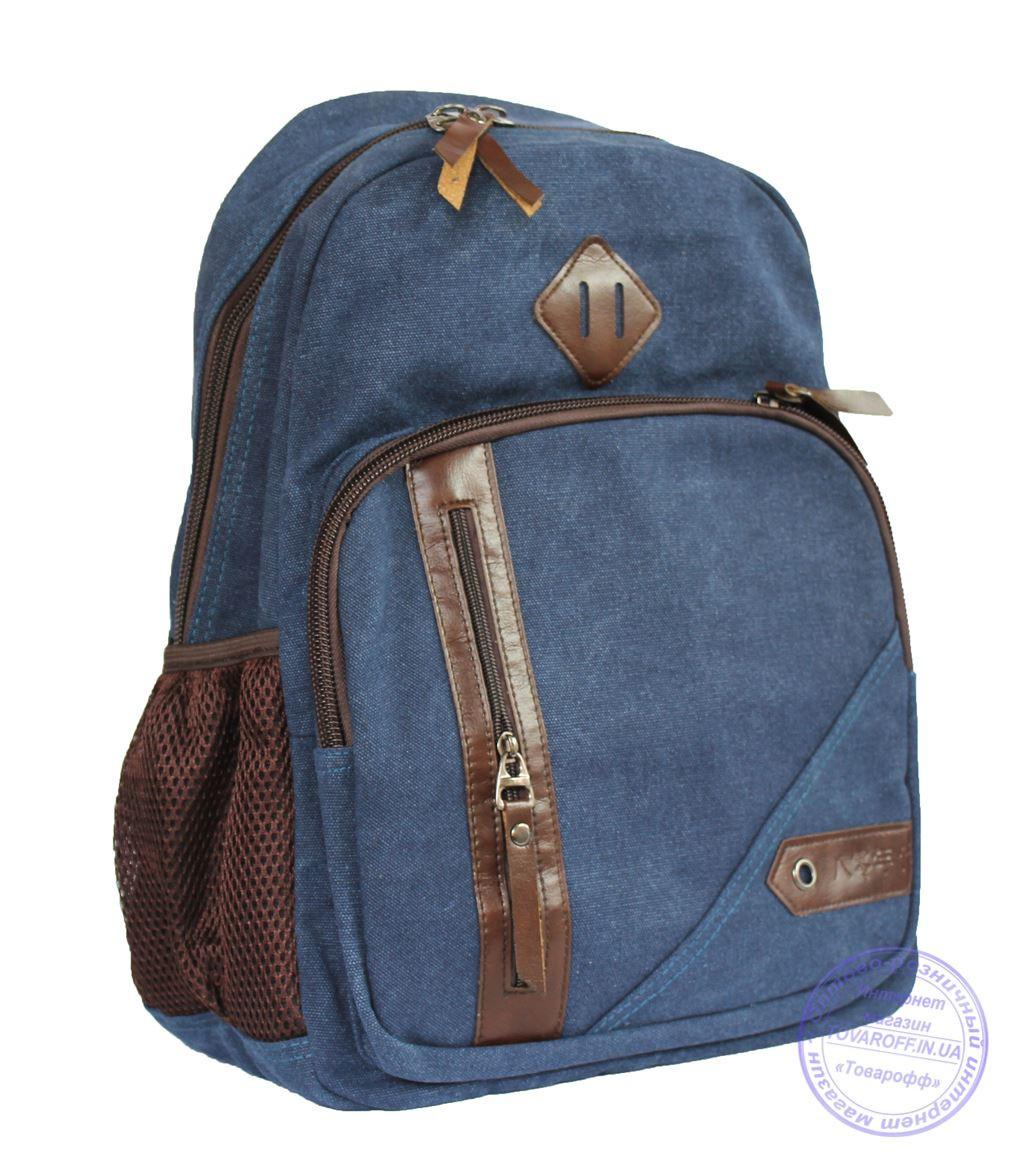 Оптом Джинсовый рюкзак подростковый - синий - 7020