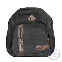 Оптом Джинсовый рюкзак подростковый - серый - 7020
