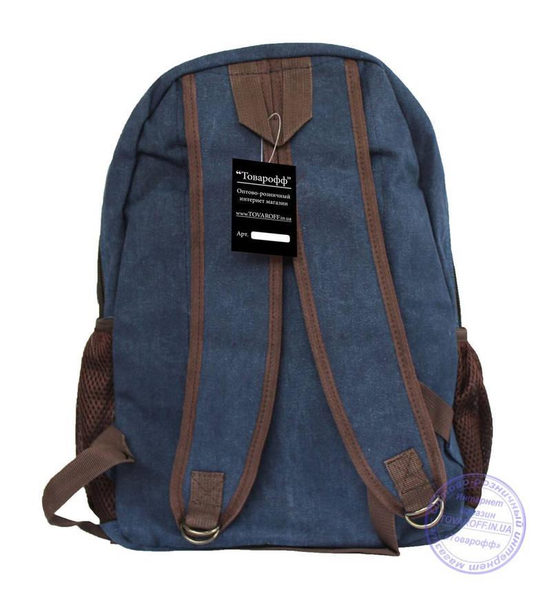 Оптом Джинсовий підлітковий рюкзак - сірий - 7020, фото 2