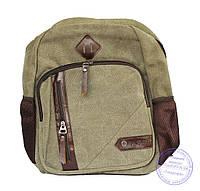 Оптом Джинсовый рюкзак подростковый - песчаного цвета - 7020
