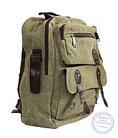 Оптом Матерчатый рюкзак - зеленый - 7121, фото 1
