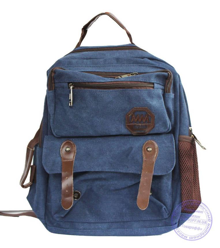 Оптом Матерчатый рюкзак - синий - 7121, фото 2