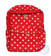 Оптом Котоновый подростковый рюкзак - красный - 7139