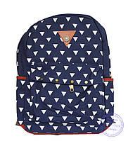 Оптом Котоновый подростковый рюкзак - синий - 7139