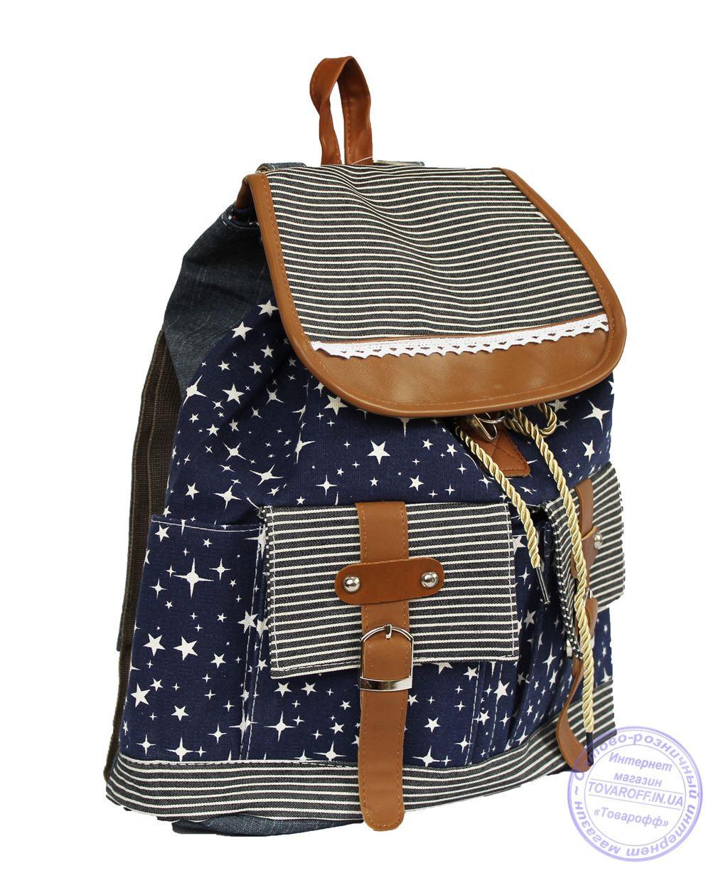 Оптом Джинсовый рюкзак для девочки - 7188