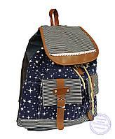 Оптом Джинсовый рюкзак для девочки - 7188, фото 1