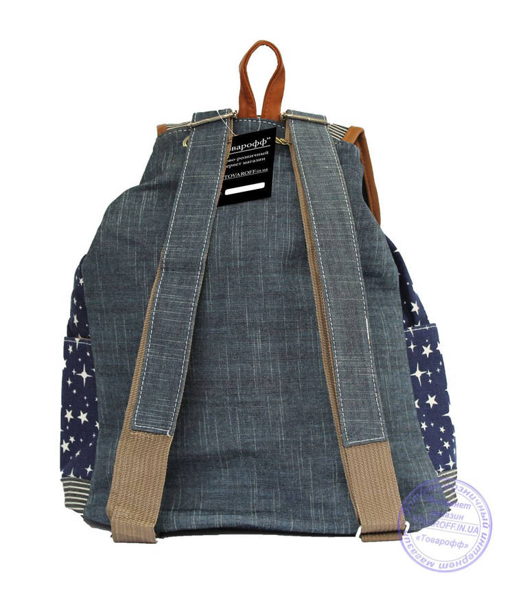Оптом Джинсовый рюкзак для девочки - 7188, фото 2