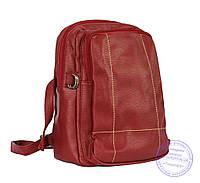 Оптом Рюкзак из кожзама - красный - 7217, фото 1
