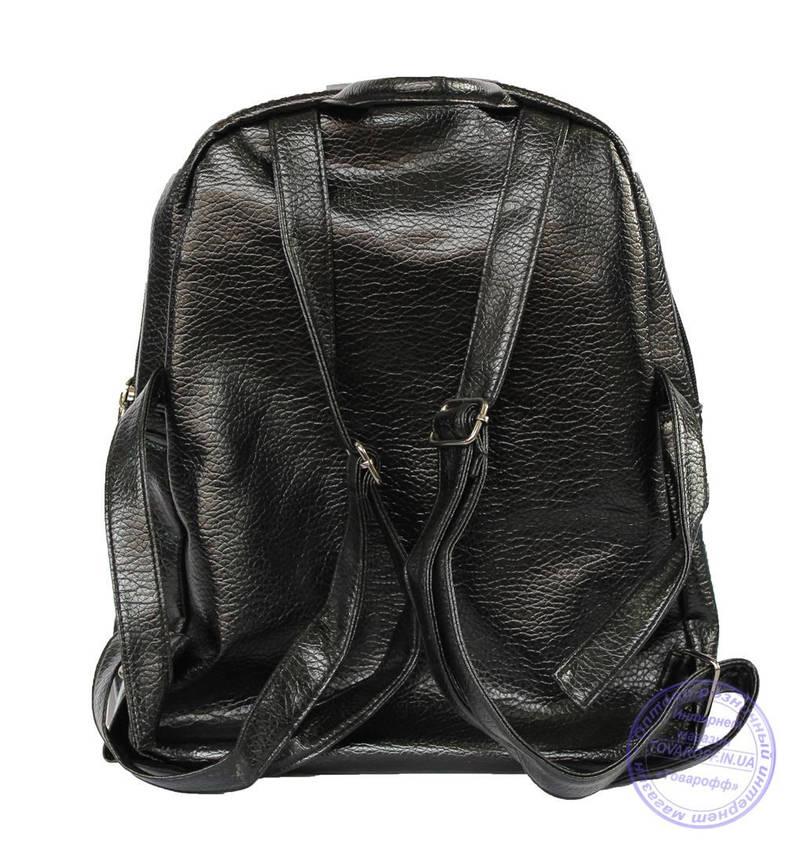 Оптом Рюкзак из кожзама - черный - 7217, фото 2