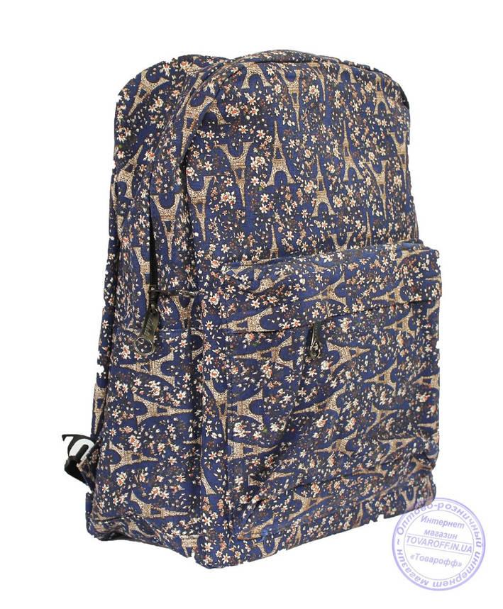 Оптом Рюкзак школьный / городской - синий - 7222, фото 2