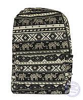 Оптом Этно рюкзак школьный / городской - черный - 7223