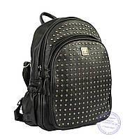 Оптом Рюкзак с шипами небольшого формата - черный - 7319, фото 1