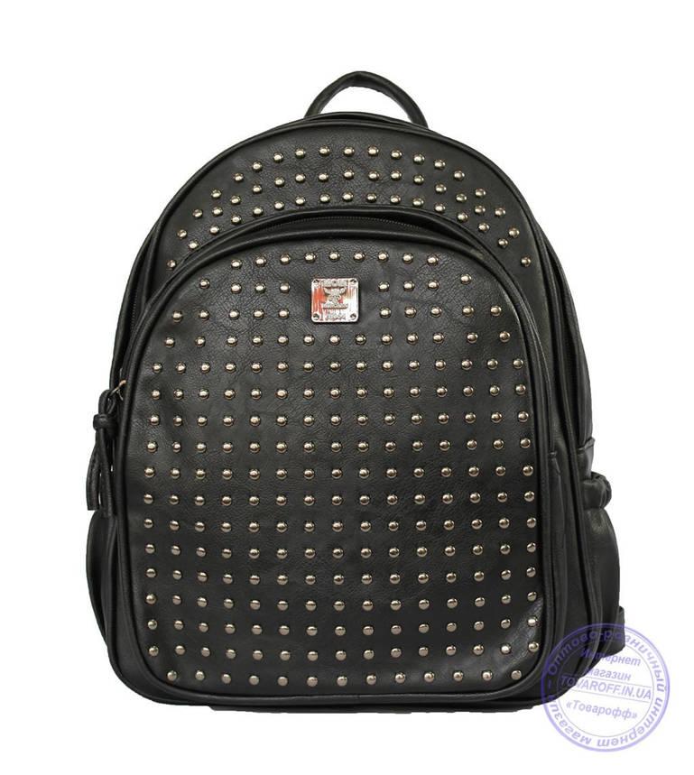 Оптом Рюкзак с шипами небольшого формата - черный - 7319, фото 2