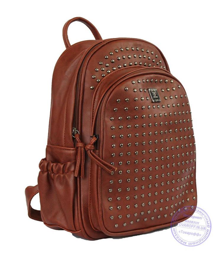 Оптом Рюкзак с шипами небольшого формата - рыжий - 7319, фото 2