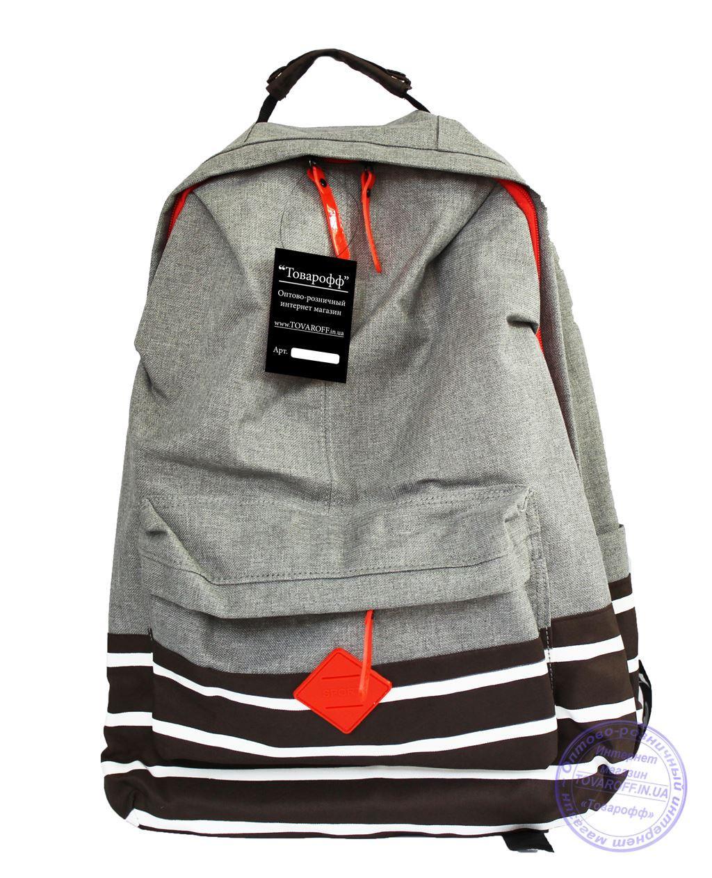 2ad2e242f834 Оптом Универсальный рюкзак для школы и прогулок - серо-коричневый - 7311