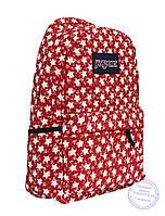 Оптом Рюкзак для девочек подростков - красный - 8019